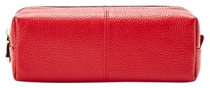 Zenith Leather Cosmetic Case ~ Red ~ NWT~ Your Makeup Case Needs Updating! So Pretty!