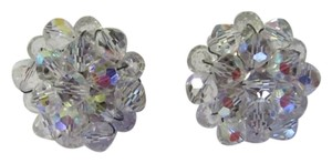 VINTAGE VINTAGE CRYSTAL CLIP EARRINGS