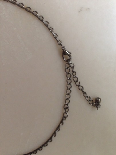 Other Black And Rhinestone Drop Necklace
