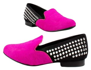 Kelsi Dagger Hot Pink and Black Flats