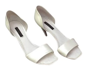 Louis Vuitton Designer Bridal Brunch Heels White Sandals
