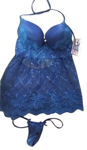 Coquette Blue Lace Babydoll and GString