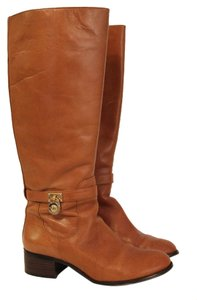 Michael Kors Riding Hamilton Size 8 Luggage Boots