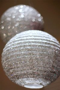 Save On Crafts Black White Silver Glitter and Non Glitter Paper Lanterns Other