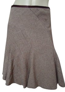 Banana Republic Gored Flared Skirt Shades of Brown