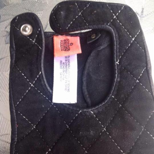Juicy Couture JUICY COUTURE QUILTED LEATHER DRIVING GLOVES SIZE 8