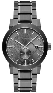 Burberry Burberry Men's Swiss Light Gray Ion-Plated Stainless Steel Bracelet Watch 42mm BU9902
