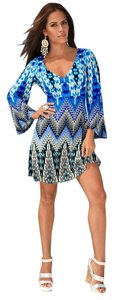 Boston Proper short dress Blue Multi Muse Boho on Tradesy