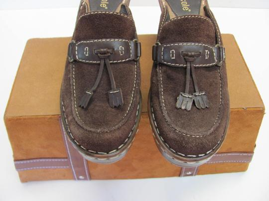 Nicole Very Good Condition Leather Size 6.00 M Brown Mules Image 2