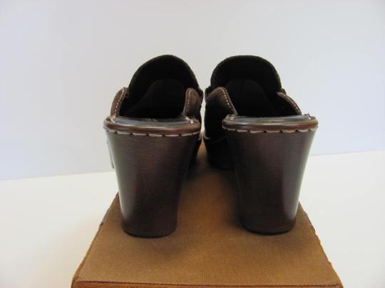 Nicole Very Good Condition Leather Size 6.00 M Brown Mules Image 4