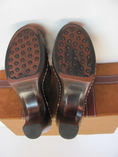 Nicole Very Good Condition Leather Size 6.00 M Brown Mules Image 5