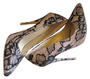Victoria's Secret Lace Floral High Heels Black Lace Sexy Pumps
