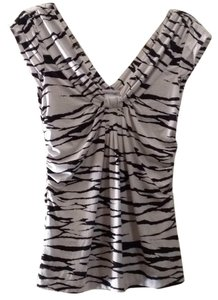 Calvin Klein Animal Print Zebra Top Black