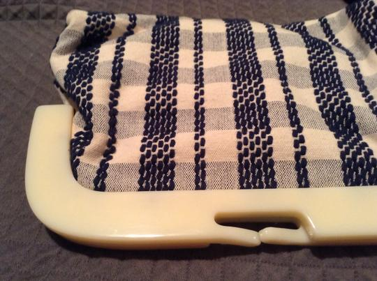 Anthropologie Ivory/Navy Clutch