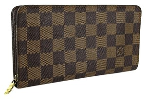 Louis Vuitton Louis Vuitton Damier Ebene Zippy Zip Around Wallet.