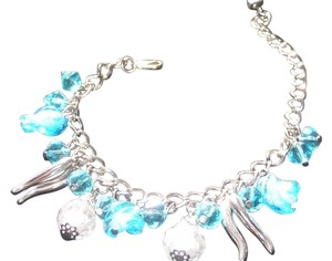 Other Blue Glass Charm Bracelet Free Shipping
