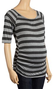 Mom & Co Striped Lace-Back Tee