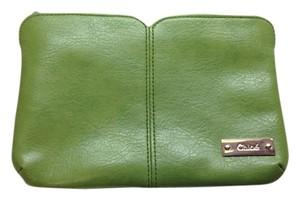 Chloé Chloe Parfum Cosmetic Pouch in Green with Silver Hardware