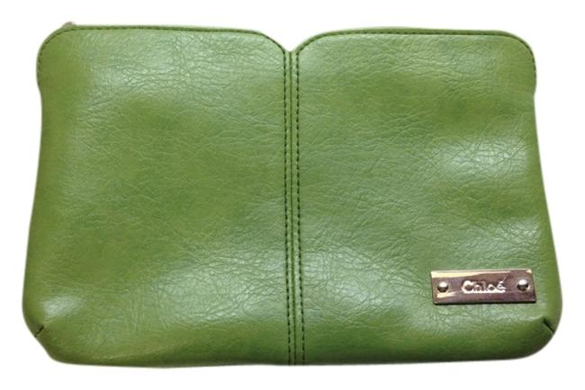 Item - Green Pouch Parfum In with Silver Hardware Cosmetic Bag