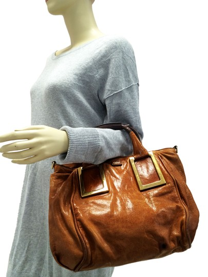 Chloé Ethel Leather Satchel in Nutmeg Brown Image 1