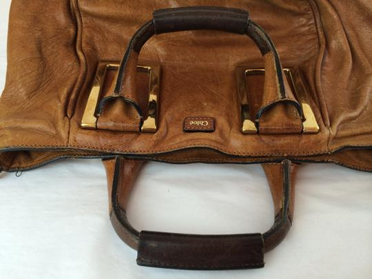 Chloé Ethel Leather Satchel in Nutmeg Brown Image 10