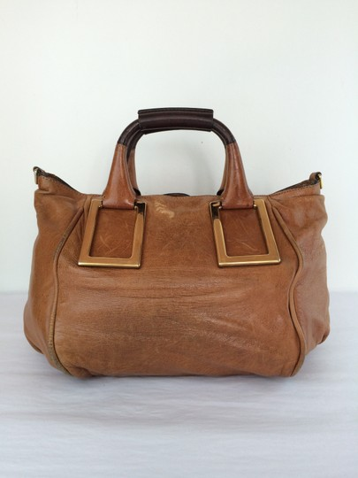Chloé Ethel Leather Satchel in Nutmeg Brown Image 11