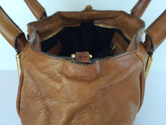 Chloé Ethel Leather Satchel in Nutmeg Brown Image 3