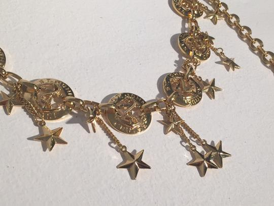 St. John St. John Nautical Anchor Star Charm Cruise Gold Tone Chain Belt. Image 1