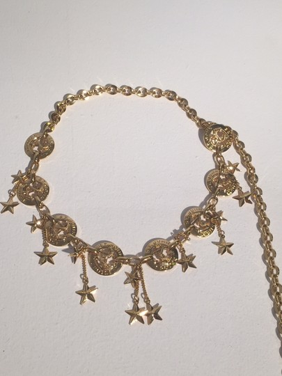 St. John St. John Nautical Anchor Star Charm Cruise Gold Tone Chain Belt. Image 2
