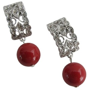 Good Collection Of Gift Red Pearl Drop Earrings