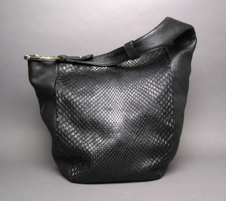 a710f1d40425 Very best Gucci And Greenwich Large Black Python Skin Leather Hobo Bag -  Tradesy TO05