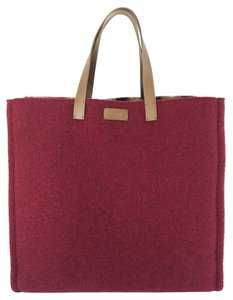 Fendi Felt Handbag Tote in Mulberry