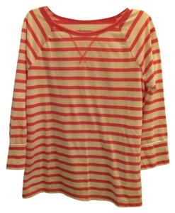 Old Navy Small Stripes T Shirt Pink/White