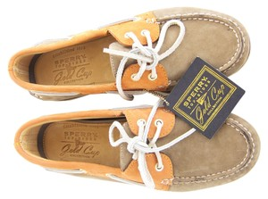 Sperry Loafers Boat 8 Gold / Tan / Orange Athletic