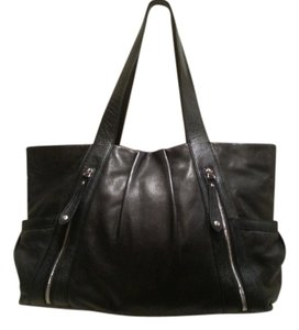 Levenger Handbag Shoulder Carezza Leather Organization Professional Tote In Black
