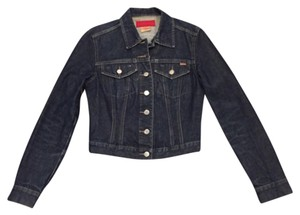 French Connection Dark blue distressed denim Womens Jean Jacket