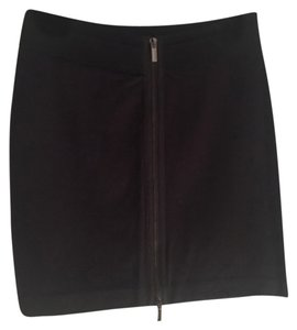 BCBGMAXAZRIA Zipper Mini Night Out Mini Skirt Black