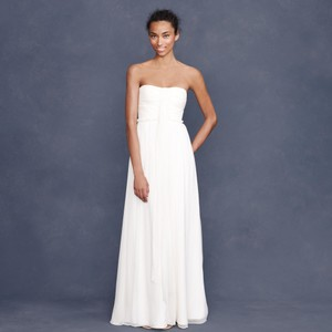 J.Crew Ivory Silk Chiffon Whitney Destination Wedding Dress Size 16 (XL, Plus 0x)