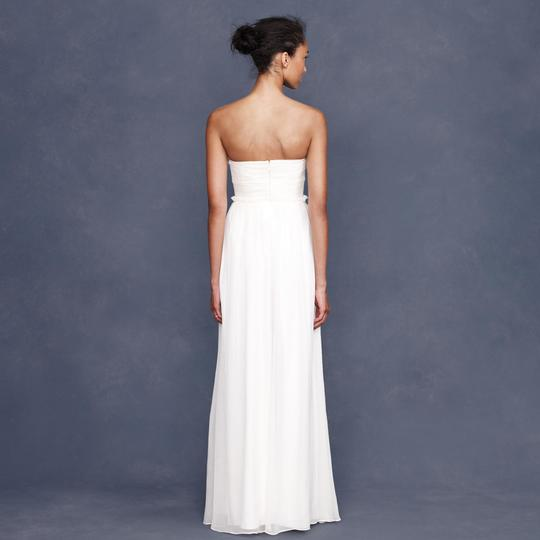 J.Crew Ivory Silk Chiffon Whitney Destination Wedding Dress Size 16 (XL, Plus 0x) Image 2