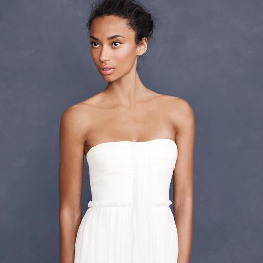 J.Crew Ivory Silk Chiffon Whitney Destination Wedding Dress Size 16 (XL, Plus 0x) Image 4