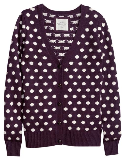 Preload https://img-static.tradesy.com/item/712541/h-and-m-burgundy-and-cream-polka-dot-leather-buttons-elbow-patches-cardigan-size-12-l-0-0-650-650.jpg