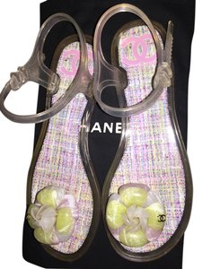 Chanel Pink and clear Sandals