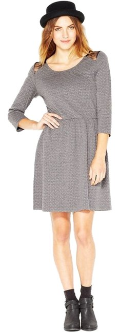 Preload https://img-static.tradesy.com/item/7125598/maison-jules-grey-quilted-lace-panel-mid-length-short-casual-dress-size-8-m-0-1-650-650.jpg