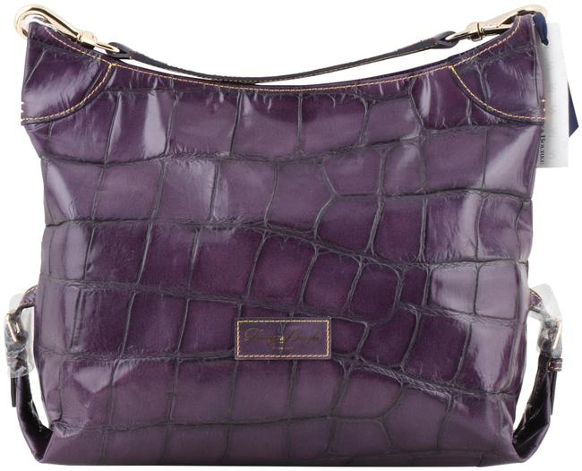 Item - Bag W Plum Embossed W/ Matching Wallet - Bx196 Pm Purple Leather Tote