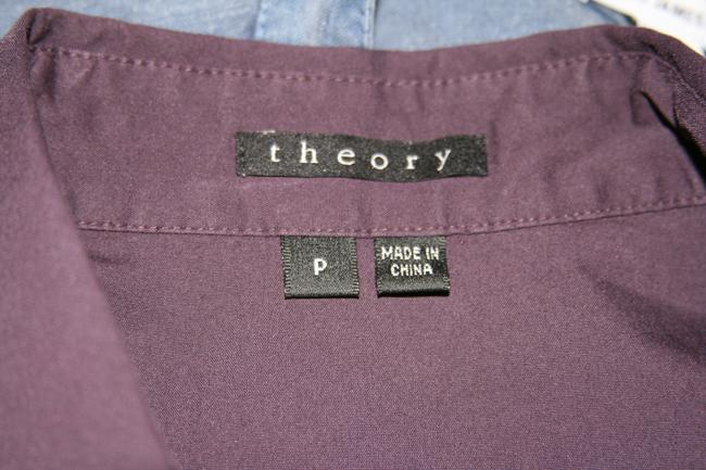 Theory Button Down Shirt Eggplant Purple