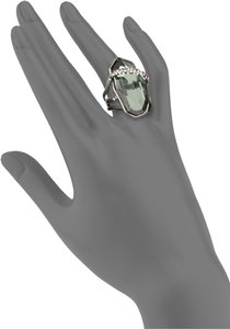 Alexis Bittar Miss Havisham Orbiting Quartz & Hematite Doublet Ring