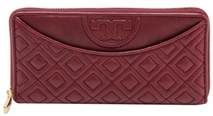 Tory Burch NEW!!! Tory Burch Red Agent Fleming Flat Zip Continental Wallet