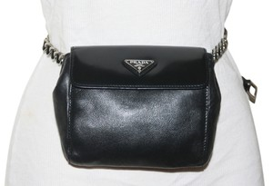 Prada Waist Bum Belt Quilted Caviar Leather Classic Timeless Flap Gold Hardware Ghw Celebrity Fannypack Fanny Pack Reissue Cross Body Bag