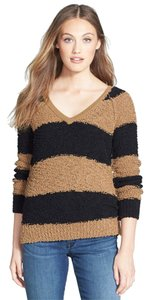 Sanctuary Clothing Polyester/cotton. Hand Wash. Imported. V-neckline Style Long Raglan Sleeves Solid Boucle Knit Ribbed Neckline Cuffs At Sweater