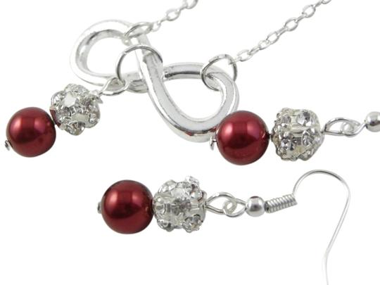 Preload https://item5.tradesy.com/images/red-pearl-infinity-charm-rhinestone-beads-set-of-and-earrings-necklace-712809-0-0.jpg?width=440&height=440